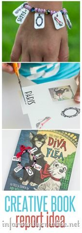 KID CRAFTS | Book Report Bracelet ~ This is a fun project to complete with your child after reading a book together or for a school assigned book report!