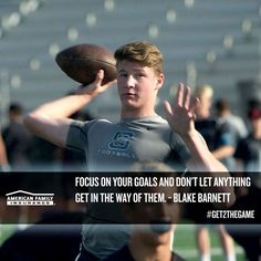 Amazing work ethic. Dedicated. Driven. These are attributes University of Alabama recruit Blake Barnett focuses on as he carves out a path to his dreams.  #Get2TheGame