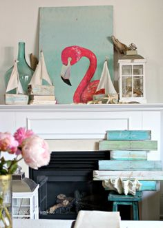 Craftberry Bush: What's your style? series - Valentine's day mantel