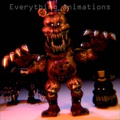 And it's Nootmare Fredbear/breadbear! & Nightmare (not Nightmare BB lel) And no it's not a for SFM, it's my Version of Fredbear based off my draw. Arte Horror, Freddy S, Five Nights At Freddy's, Deviantart, Bandy, Decor, 3d, Games, Decoration
