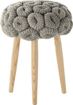 'Knitted Rings Grey Stool by Gandia Blasco. @2Modern'