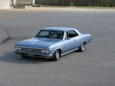 chevelle  1966   1966 Chevelle « Ridetech Garage  My first car , bought one in 1975  for $200,00  this same color.