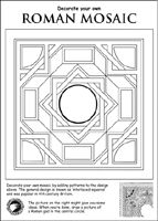 Roman Britain Activity Sheets for Kids Rome Activities, Art Activities For Kids, Ancient Rome, Ancient History, Mosaics For Kids, Italy For Kids, Roman Mosaics, Greek Crafts, Rome Art