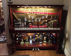 Piano Bar by FathersDaughterDecor on Etsy