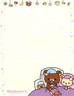 Rilakkuma letter paper