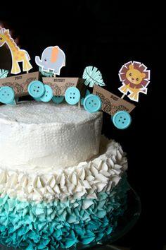 Baby Boy One Year Birthday Cake topper by denna's ideas