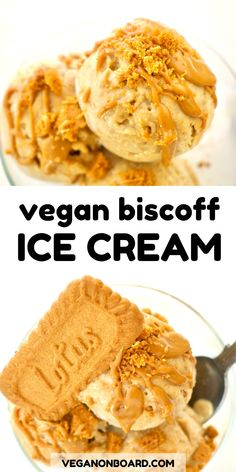 This vegan biscoff ice cream is the perfect way to enjoy Biscoff cookies in the summer! With just four ingredients, this no churn ice cream is quick and easy to make.