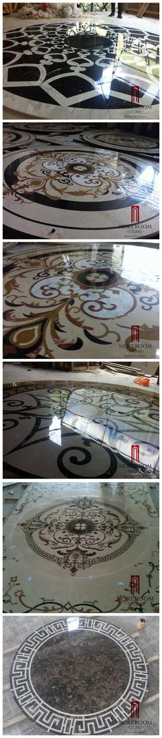 WATER JET MARBLE MEDALLION marble medallion  composite marble from moreroom stone,008613923234649