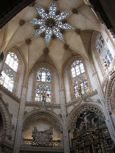 Burgos Cathedral in Spain interior view