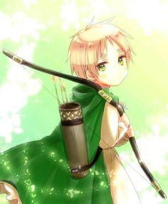 Chibi England with bow and arrow - Hetalia .I want a bow and arrow. Manga Anime, Anime Art, Me Me Me Anime, Anime Guys, Grimgar, Latin Hetalia, Hetalia Anime, Hetalia England, Animes On