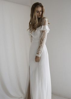a61a3cbbb6e 643 Best minimal chic wedding gown images in 2019