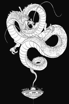 Dragon Ball Z, eternal Shenron Manga Anime, Anime Art, Bd Comics, Anime Comics, Sheng Long, Dragons, Fan Art, Dragon Ball Gt, Illustrations