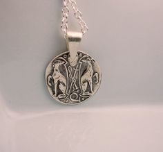 Large Crest Greyhounds Fine Silver Pendant on etsy.com by ShannonOReilly,