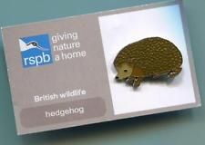 RSPB Enamel Pin Badge HEDGEHOG (British Wildlife) Mint on Card (E053)