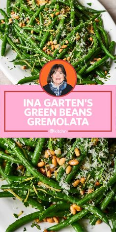 I Tried Ina Garten's Green Beans Gremolata - I Tried Ina Garten's (AKA the barefoot contessa) has lots of recipes for holiday sides and side d - Easter Side Dishes, Vegetable Sides, Vegetable Side Dishes, Green Vegetable Recipes, Veggie Recipes, Beans Recipes, Chef Recipes, Yummy Recipes, Chicken Recipes