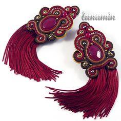 soutache and tassels Soutache Bracelet, Beaded Tassel Earrings, Soutache Jewelry, Boho Jewelry, Beaded Jewelry, Fashion Jewelry, Unique Jewelry, Shibori, Soutache Tutorial