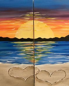 This date night-style painting is called Romance on the Beach, and it makes a great piece of bedroom décor! #datenight #datenightidea #homedecor