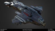 Halo Pelican, Mandalorian Ships, Halo Ships, Mythological Monsters, Halo Spartan, Halo Game, Starship Concept, Ajin Anime, Sci Fi Ships