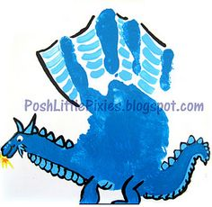 2012's Dragon contains the element of Water, celebrate by making your dragon blue!