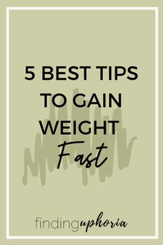 These are some of the best tips out there to help anyone gain weight, no special syrups or pills.