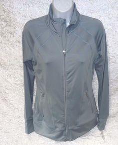 Jockey Womens Activewear Aerosculpt Jacket Silk Grey size S NEW https://www.ebay.com/itm/332486637911