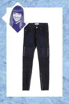 """Paige """"I'm a skinny-jeans girl at heart, but I've come to terms with the fact that sometimes the world's favorite style just looks like leggings. With their cool moto-inspired pockets and textured knees, Paige's Demis are firmly planted in pants territory. They are a little on the cropped side, too, so they look great with ballet flats and Chelsea boots. I love them so much I literally own them in every color, from black to dark blue to gray."""" — Naomi Nevitt, shopping and market director"""