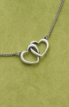 2 hearts together and always necklace