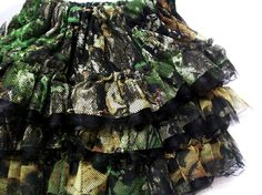 Girls Realtree Camo Ruffled Pettiskirt  Tutu by pinkiepetunia, $38.00