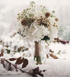 Winter Impression mit Weiß und Braun