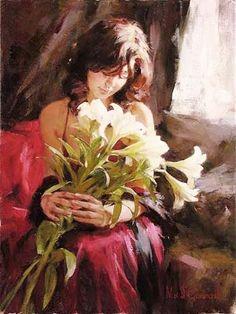 Michael & Inessa Garmash (1969-) : Memories ( signed : 61x46 cm)