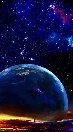 Iphone Wallpaper Earth, Moving Wallpaper Iphone, Galaxy Phone Wallpaper, Eyes Wallpaper, Night Sky Wallpaper, Phone Wallpaper Images, Wallpaper Space, Anime Scenery Wallpaper, Dark Wallpaper