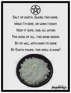 Salt of the earth home protection special Wicca pagan Magick Spells, Wiccan Witch, Wicca Witchcraft, Hoodoo Spells, Green Witchcraft, Wiccan Protection Spells, Curse Spells, Luck Spells, Healing Spells