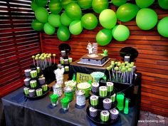 Ghostbusters Party - 30th birthday party idea  Candy buffet
