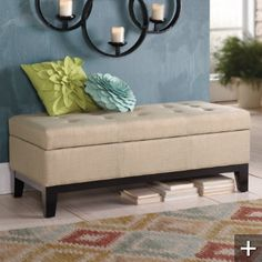 $349 Langdon Fabric Storage Ottoman