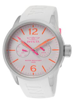 Invicta I-Force Light Grey Dial White Polyurethane (42 mm)