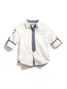GUESS Kids Boys Button-Down Shirt Roll-Up Sleeves « Clothing Impulse