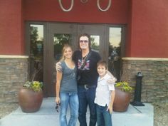 Here I am with my Niece and Nephew...