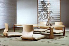 天童木工 座卓 Sofa Furniture, Dining Room Furniture, Furniture Ideas, Design Japonais, Japanese Apartment, Zen Interiors, Tatami Room, Traditional Japanese House, Low Chair
