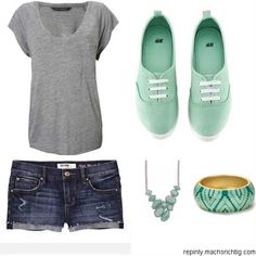Really cute summer outfit. Not the jewelry tho
