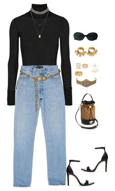 """""""Untitled #4582"""" by mollface ❤ liked on Polyvore featuring Zara, Vita Fede, T By Alexander Wang, CÉLINE, Yves Saint Laurent, Carrera y Carrera, Nöe, Cartier, Chanel and Bianca Pratt"""