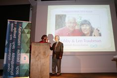 Libby & Len Traubman receiving Compassion Week Award for Interfaith Reconciliation