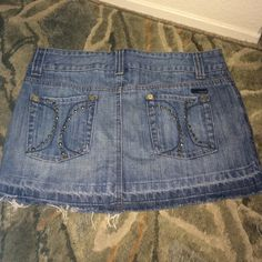 Studded Hurley mini denim skirt This is in mint condition. Hurley Skirts