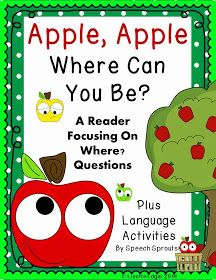Apple Apple Where Can You Be? from Speech Sprouts