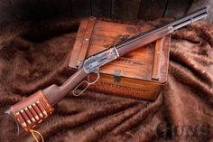 Want an Original Winchester 1886 but this Chiappa 1886 Kodiak Trapper in from Guns of the Old West would be great too hanging over the fireplace. And it's all modernized internals would make it a better performer in actual use Cowboy Action Shooting, Lever Action Rifles, Fire Powers, Hunting Rifles, Cool Guns, Le Far West, Guns And Ammo, Firearms, Shotguns