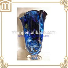 Check out this product on Alibaba.com APP Luxury Hand made mouth blown blue colored tall trumpet glass vases Murano Glass Vase, Trumpet, Vases, App, Luxury, Check, Handmade, Blue, Color