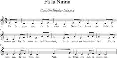 Fa la Ninna. Canción Italiana.