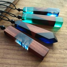 Real Wood Crystal Necklace