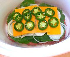 Triple Hamburger / Cheeseburger Slow Cooker Meatloaf - PaleoPot - Easy Paleo Recipes - Crock Pot / Slow Cooker / One-Pot