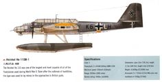 Heinkel he 115 aircraft. The Heinkel He 115 was a World War II Luftwaffe seaplane with three seats. It was used as a torpedo bomber and performed general seaplane duties, such as reconnaissance and minelaying. The plane was powered by two 960 PS (947 hp, 720 kW) BMW 132K nine-cylinder air-cooled radial engines. Some later models could seat four, had different engines, or used different weapon setups.