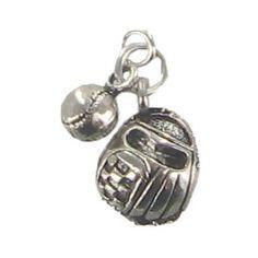 Charm Me Antique Silver Baseball & Glove Charm | Shop Hobby Lobby